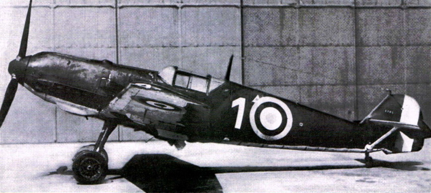 Bf 109E-3 WNr. 1304 in British colors