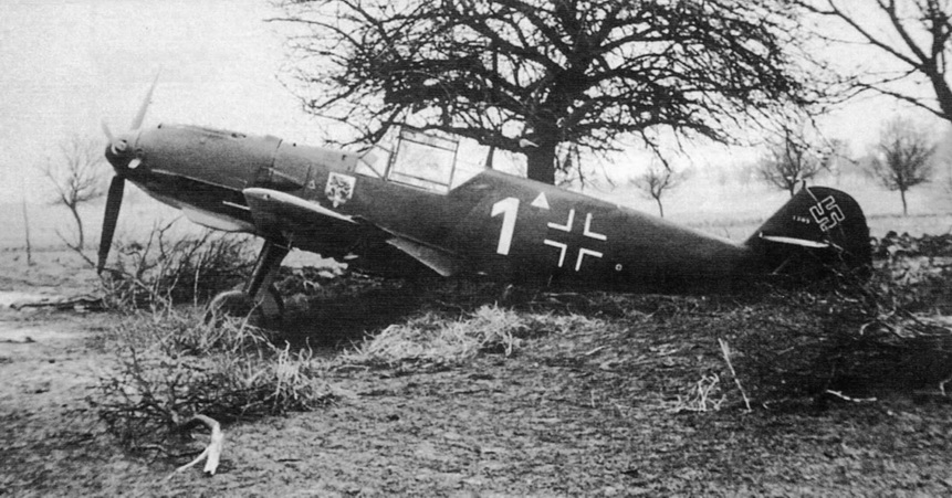 Bf 109E-3 WNr. 1304 as captured on 22 November 1940